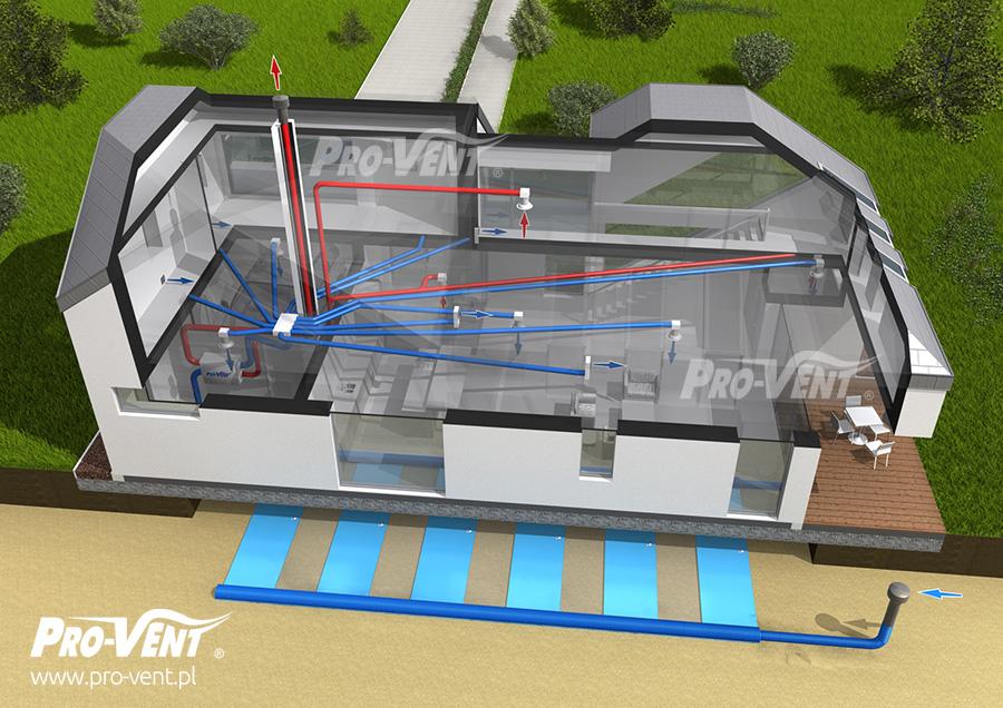budowa systemu wentylacji geo klimat komfort